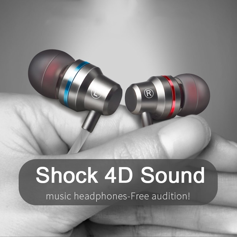 TYPE C USB Wired Earphone Super Bass Stereo Music HIFI Sport Headset With MIC Bass For Xiaomi Huawei