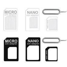 2018 nouveauté 4 en 1 adaptateur Sim pour Nano Micro taille Standard carte Sim pour iPhone X 7 8 pour téléphone Android Huawei Xiaomi 5 6