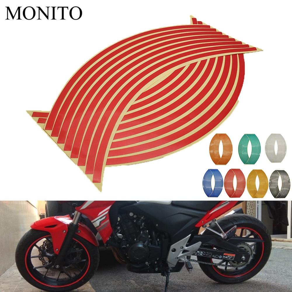 Adhesivo para rueda de motocicleta, pegatinas reflectantes, tira de cinta para llanta para BMW C400GT C600 C650 C650GT Sport F650GS F700GS F800R, accesorios