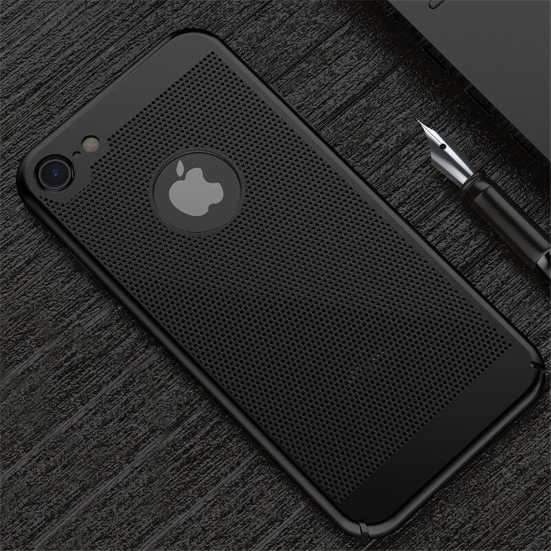 Funda dura de lujo para PC para iPhone 5 5S 6 6 S 7 Plus para iP6 iP7 Disspate calor Capa Fundas