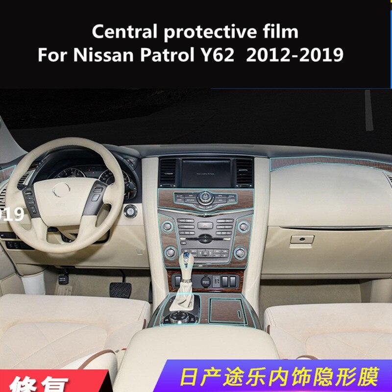 Control Central película protectora transparente TPU modificación interior para Nissan Patrol Y62 2012-2019