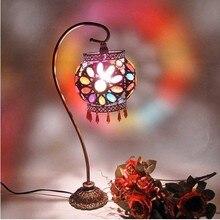 Lighting table lamp rustic acrylic table lamp beaded lamp bedroom bedside lamp