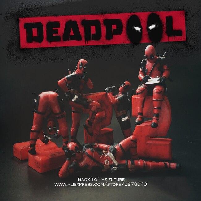Экшн-фигурки Marvel X-Men, 6-8 см, Deadpool 2, ПВХ, для украшения осанки, коллекция игрушек, модель для детей, подарок