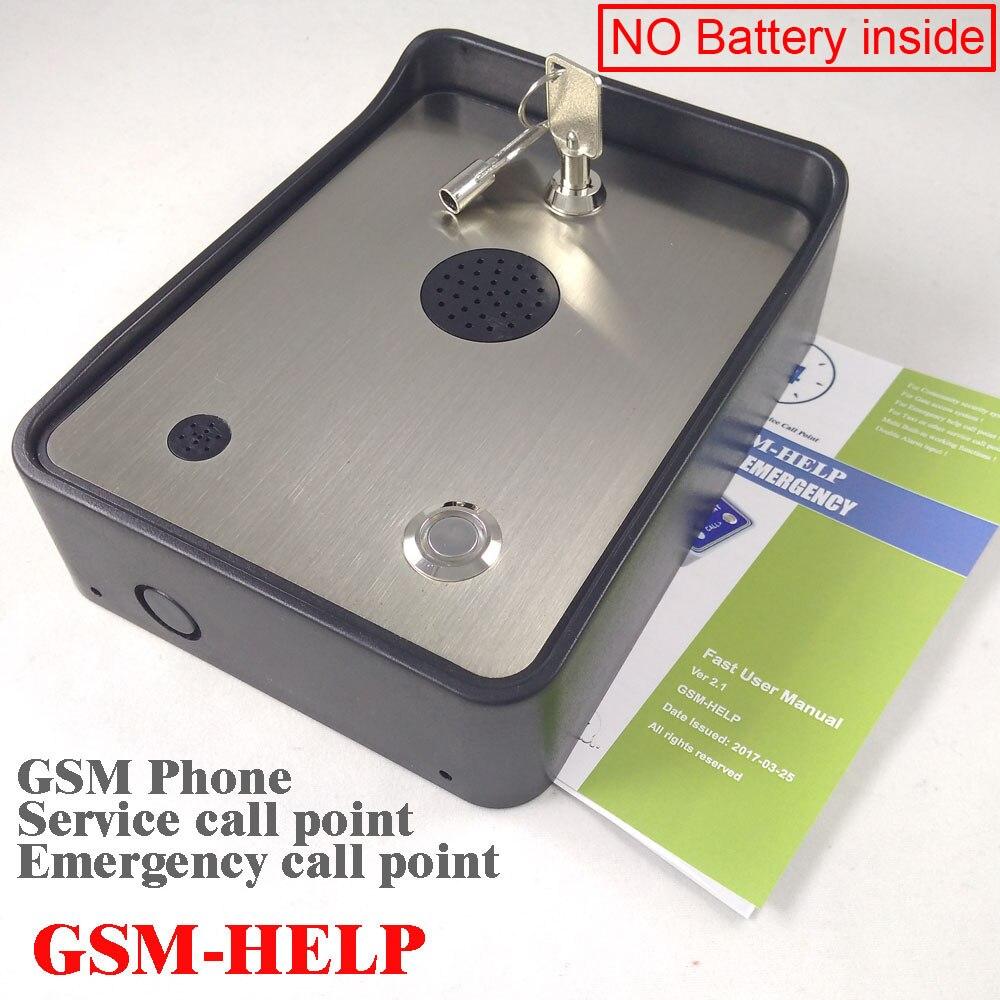 GSM sistema de alarma de seguridad de la comunidad intercomunicador de audio alarma de emergencia ayuda a llamar intercomunicador de servicio telefónico