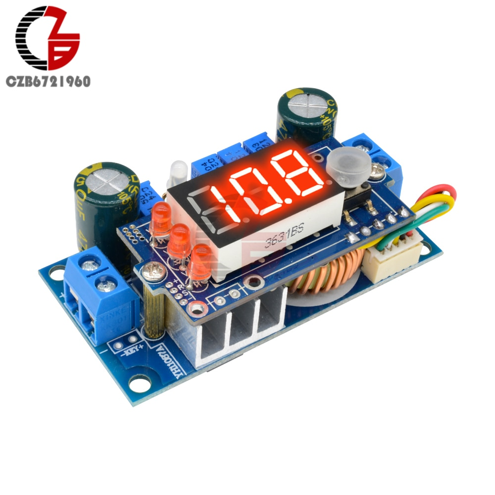 5A regulador solar MPPT DC-DC Digital LED convertidor Buck de reducción suministro para transformador de energía CC/CV de carga de la batería de prueba para coche