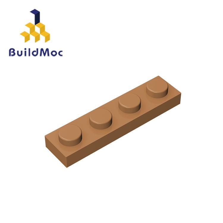 BuildMOC Compatible Assembles Particles Plate 3710 1x4 For Building Blocks Parts DIY enlighten bricks Educational Tech Toys