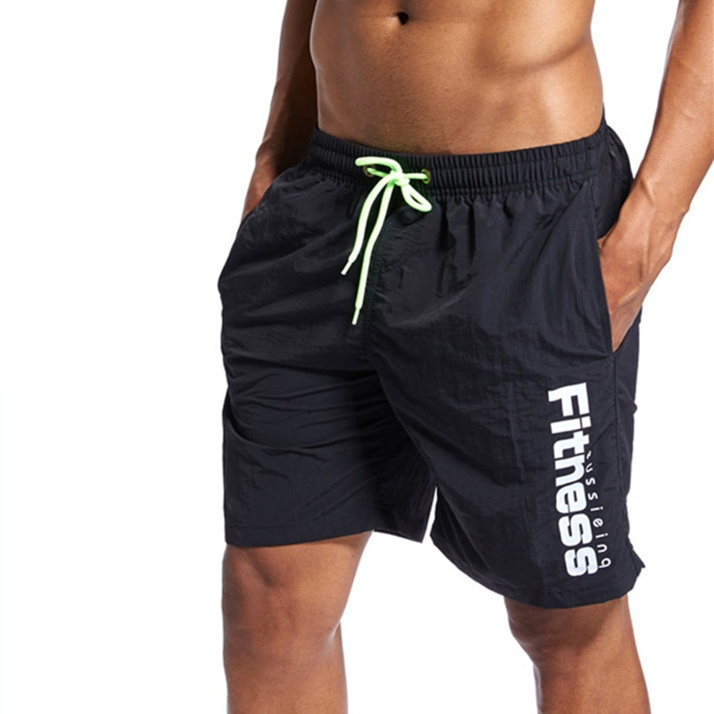 Men sports fitness Shorts Summer surfing Beach shorts Swimwear Men Boardshorts Man boxer Short Bermuda Swimsuit swim shorts
