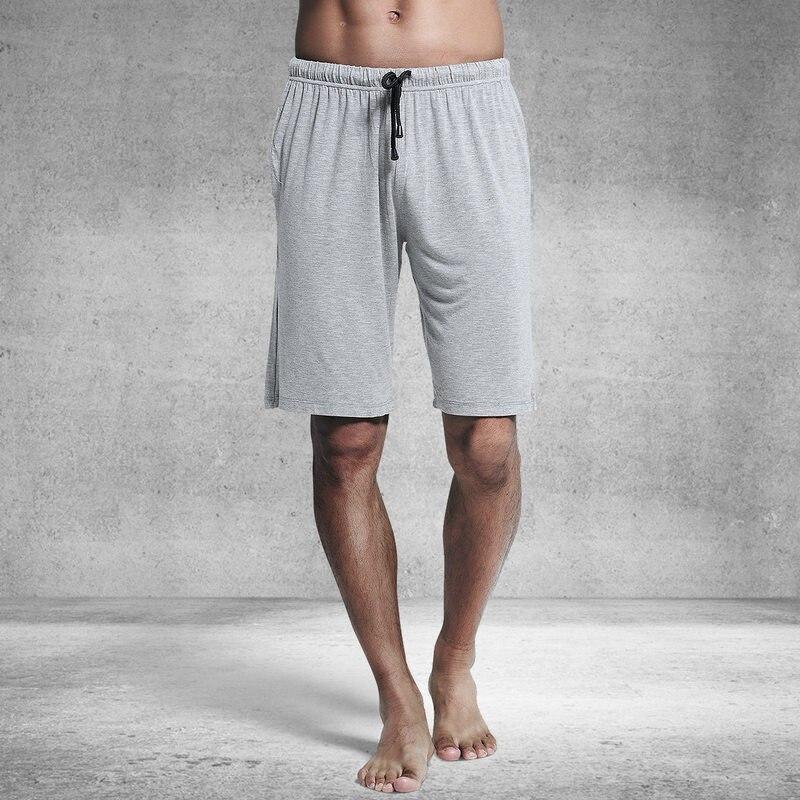 Sexy sólido modal casa shorts men sleep bottoms verão respirável solto casual masculino pijamas moda curto homme ma50197