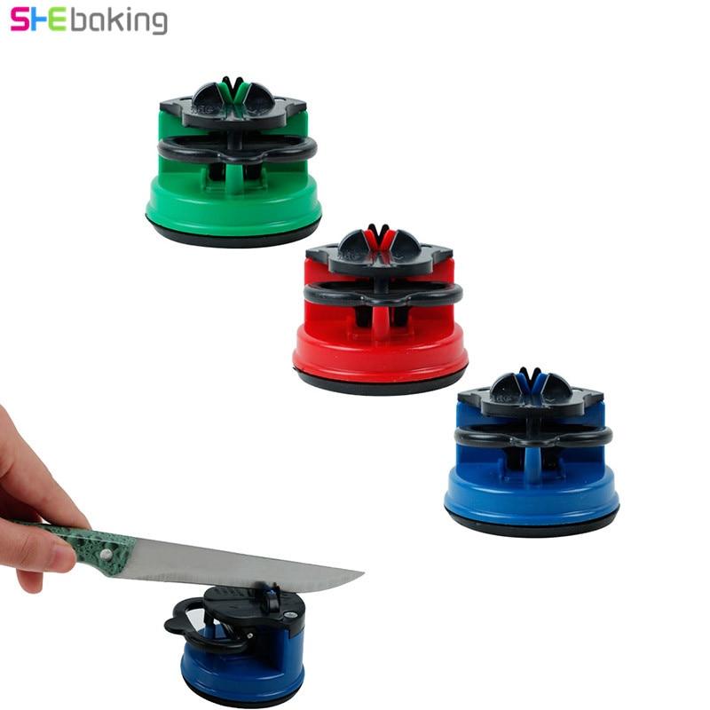 Shebaking 1 шт. круглая заточка для всасывания, шлифовальная машина, металлические ручные ножи, Острые Ножницы, заточка камня для ножей, кухонный инструмент