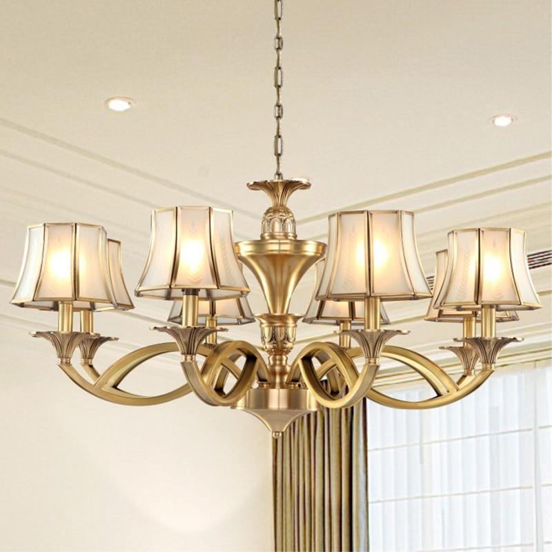 Luxury Copper Chandelier Light Living Room Chandelier Lighting Luxury Copper Lamp