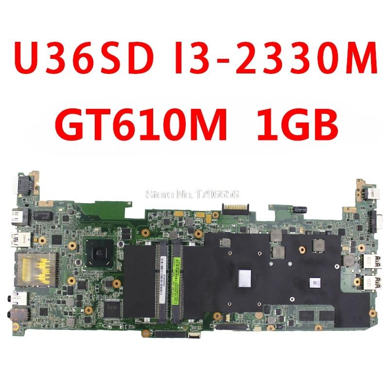 Placa base U36SD U36SG U44SG U44S U36KI241SD para portátil For Asus (placa base/placa base) con CPU I3