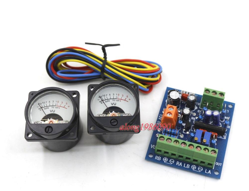 Un par de nivel de Audio de 34mm/nivel db/Medidor de VU + tablero de controlador de cabecera VU
