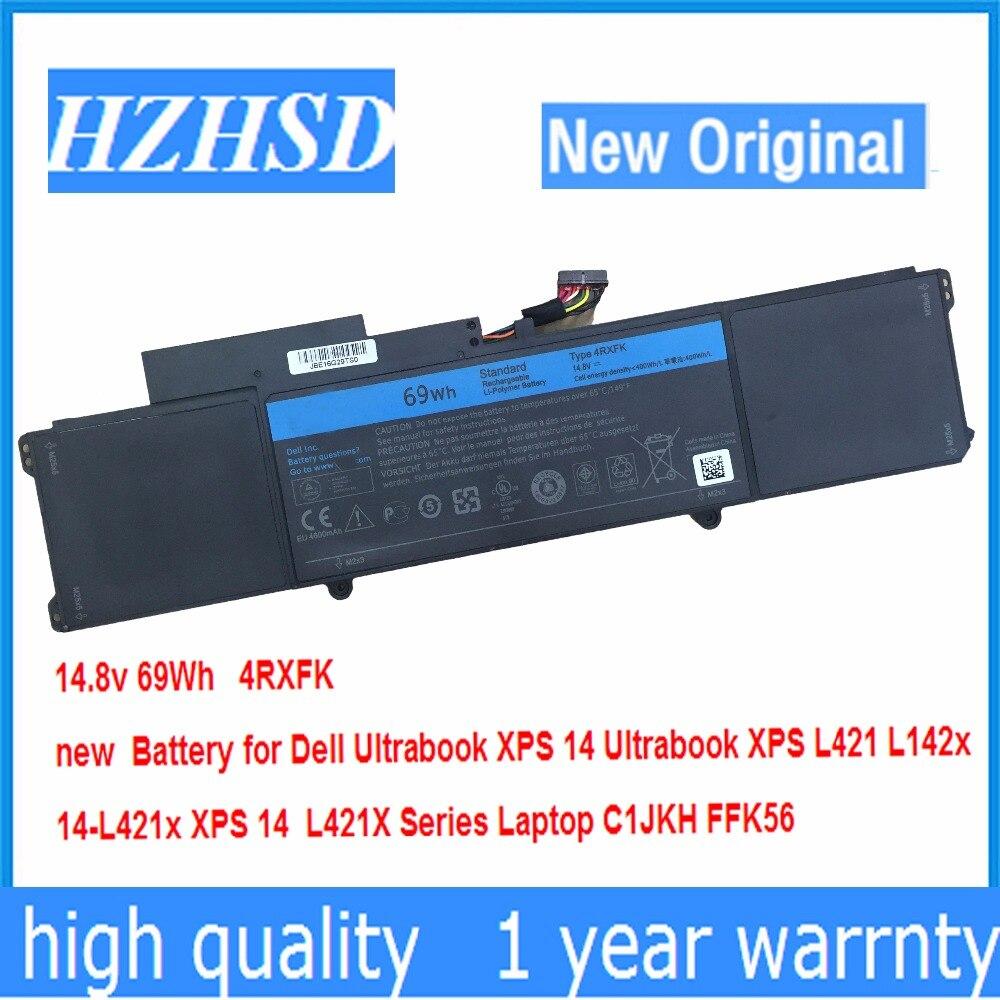 14,8 v 69Wh новый оригинальный 4RXFK Аккумулятор для Dell XPS 14 Ultrabook XPS L421 L142x 14-L421x XPS 14 L421X ноутбук C1JKH FFK56