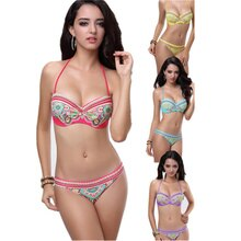 Hot Selling Sexy Charming Paisley Bandeau Bikini  Wholesales price Beachwear M5252