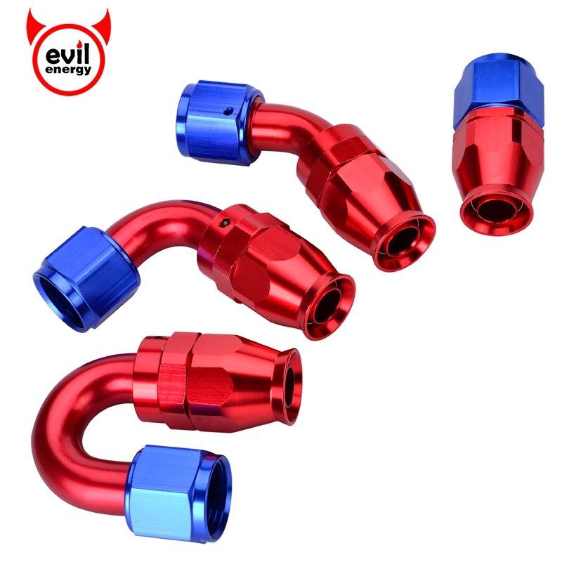 Manguera giratoria de PTFE AN10 recta 45 90 180 grados para línea de combustible de aceite PTFE
