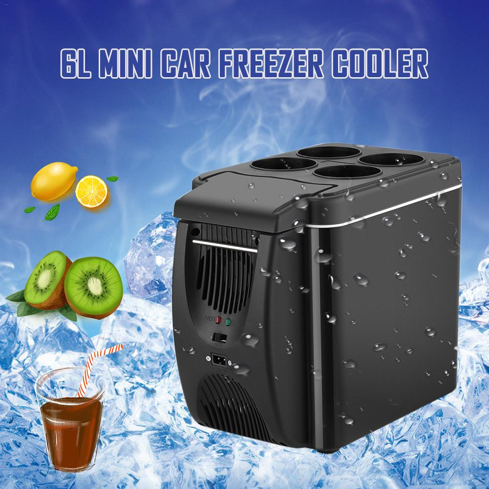 12V Car Refrigerator Freezer Heater 6L Mini Car Freezer Cooler Electric Fridge Portable Icebox Travel Electric Refrigerator