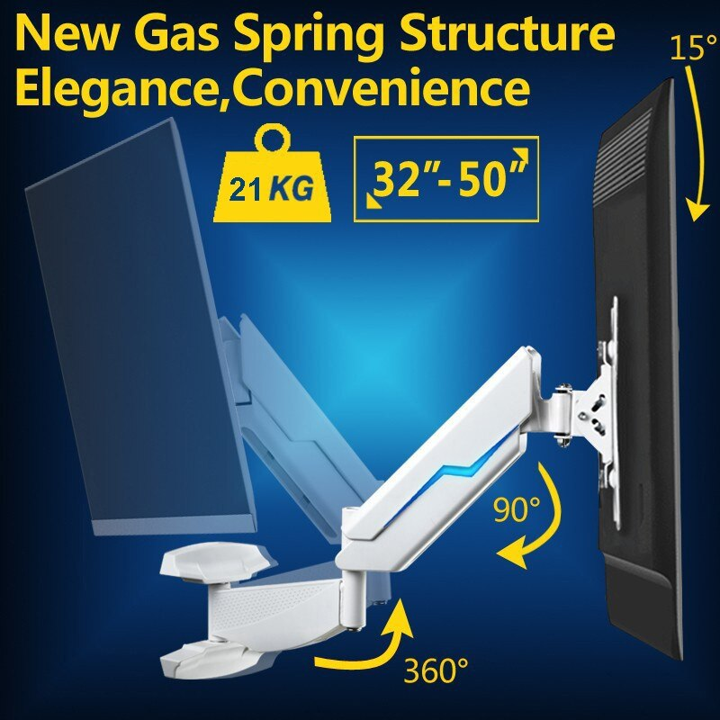 "Gas Spring Full Motion 42-50"" LCD TV Wall Mount Monitor Holder Max.Loading 21kgs Max.VESA 400*400MM"