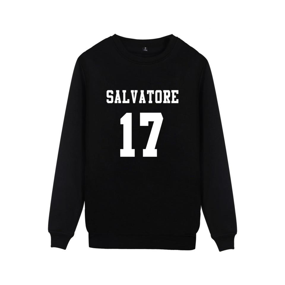 Salvatore 17 diarios de vampiros en Mystic Falls sudaderas Timberwolves imprimir Salvatore17 ropa Casual de algodón de Sudaderas sin capucha