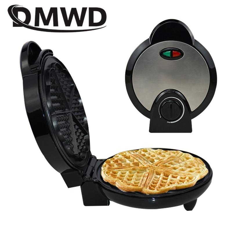 DMWD-صانعة الوافل الكهربائية كريب ، محمصة خبز غير لاصقة ، حديد بوبل ، للبيض والكعك ، الإفطار ، مقبس الاتحاد الأوروبي
