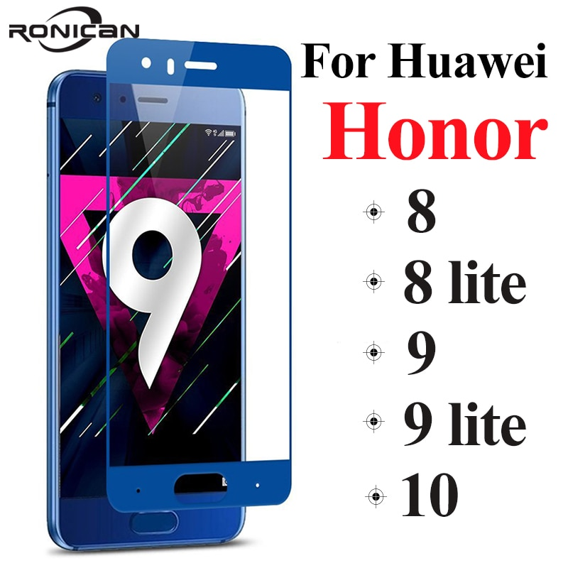 Full cover honor 9 lite protective glass honor 9 8 10 on the for huawei 8lite 9lite screen protector