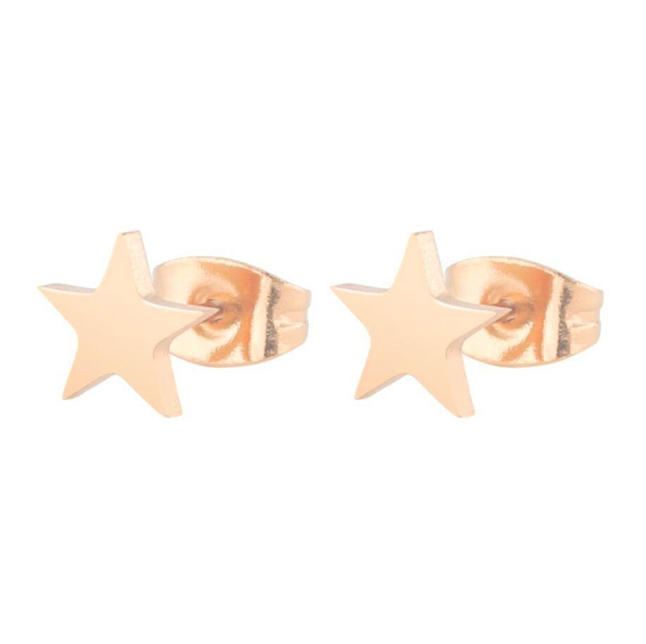 Geometriai rozsdamentes acél fülbevalók nőknek és férfiaknak - Divatékszer - Fénykép 6