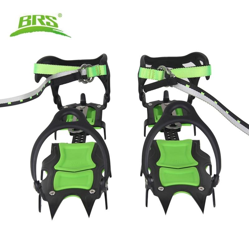 BRS-14 حذاء مسطح من الفولاذ والمنغنيز ، أحذية ثلج ، غطاء مقاوم للانزلاق ، غطاء ثلج احترافي للتنزه في الهواء الطلق