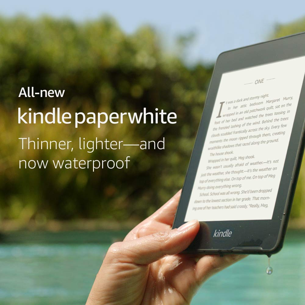 All-new Kindle Paperwhite -Now Waterproof 32GB Kindle Paperwhite4 2018 300 ppi eBook e-ink Screen WIFI 6