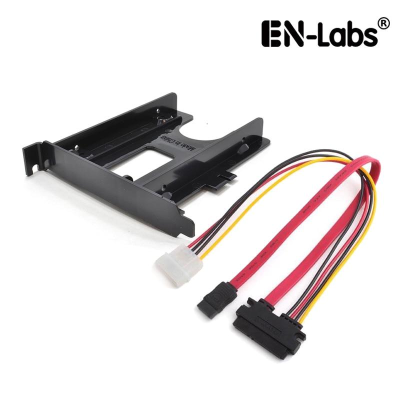 """Cable combinado de datos y alimentación SATA En-Labs con ranura PCIe/PCI 2,5 """"HDD/SSD soporte de montaje 2,5"""" a PCI Panel trasero adaptador de disco duro"""