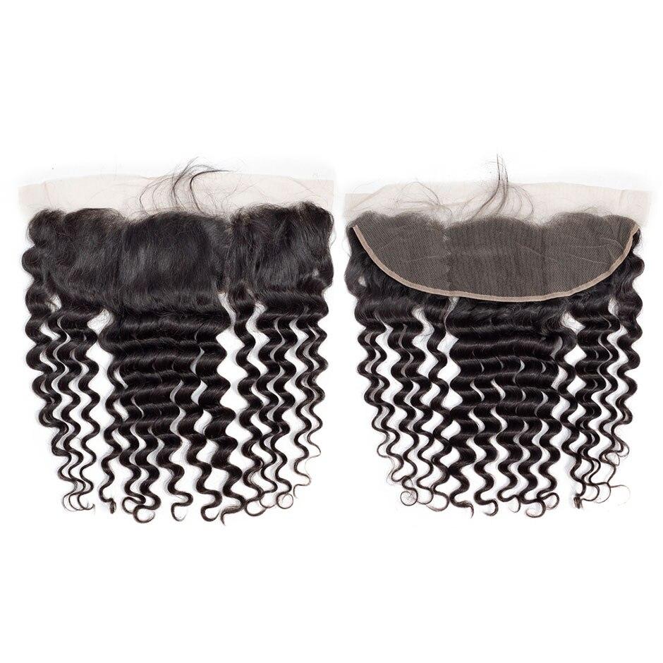 VSHOW-شعر مستعار برازيلي مموج طبيعي ، شعر ريمي عالي الجودة ، 13x4 ، منتف مسبقًا ، مع شعر الطفل ، كثافة 130%