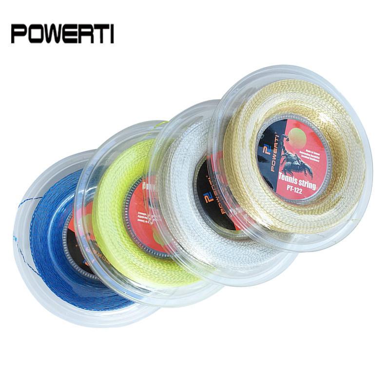 POWERTI 1.30mm Nylon Wire Soft Tennis String 200m Reel Durable Tennis String Racket Sport Training String PT122 tour xc 17l tennis string reel black