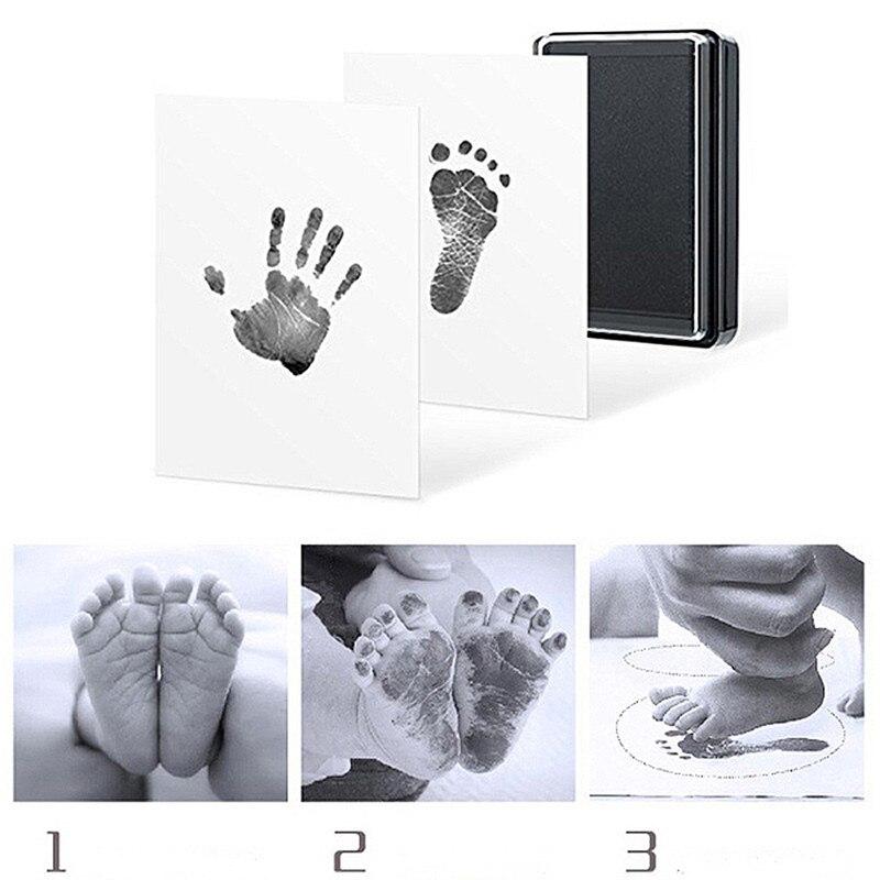 Детская ручная печать, форма в виде отпечатка ноги, безопасная, легко моется, не создает беспорядок, нетоксичные чернила, фотобумага для новорожденных, коврик для печати на ногах