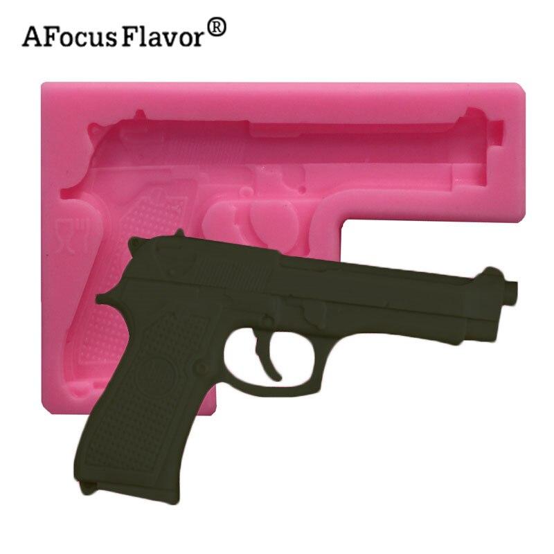 1 шт., 3D пистолет, игрушка, fondant, шоколада, торта, мыло в виде кекса для пластилина, силиконовые формы, для приготовления пищи, ручной работы, ин...