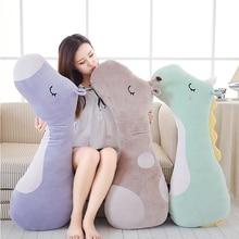 New Large Soft Animal Cartoon Sleeping Pillow Cushion Cute Unicorn Horse Giraffe Stuffed Plush Toy Lovely kids Birthyday Gift
