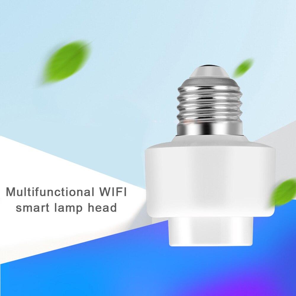 Inteligente e27 base de lâmpada cabeça inteligente wi fi interruptor remoto controle voz compatível com alexa google casa nova