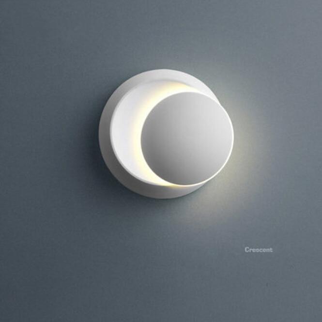 LED Wall Lamp 360 degree rotation adjustable bedside light white Black creative wall lamp Black modern aisle round lamp