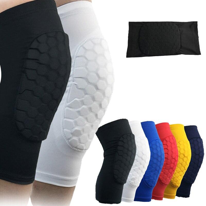 1 ud. Rodilleras de baloncesto de compresión acolchadas, rodilleras de baloncesto, soporte para fútbol, voleibol, fútbol, tenis, Protección deportiva
