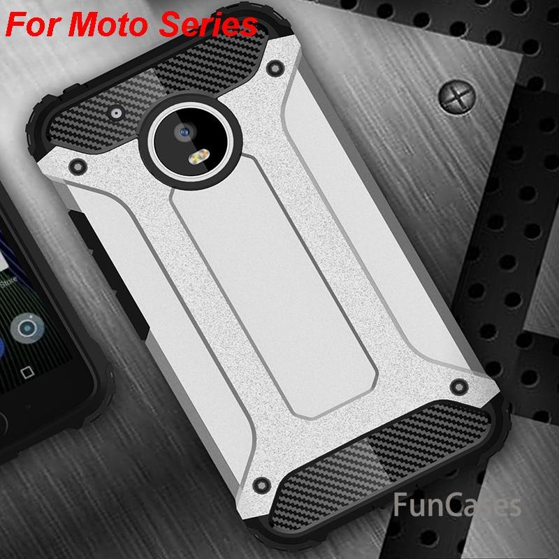 Funda trasera híbrida resistente a prueba de golpes para Motorola G5 S...