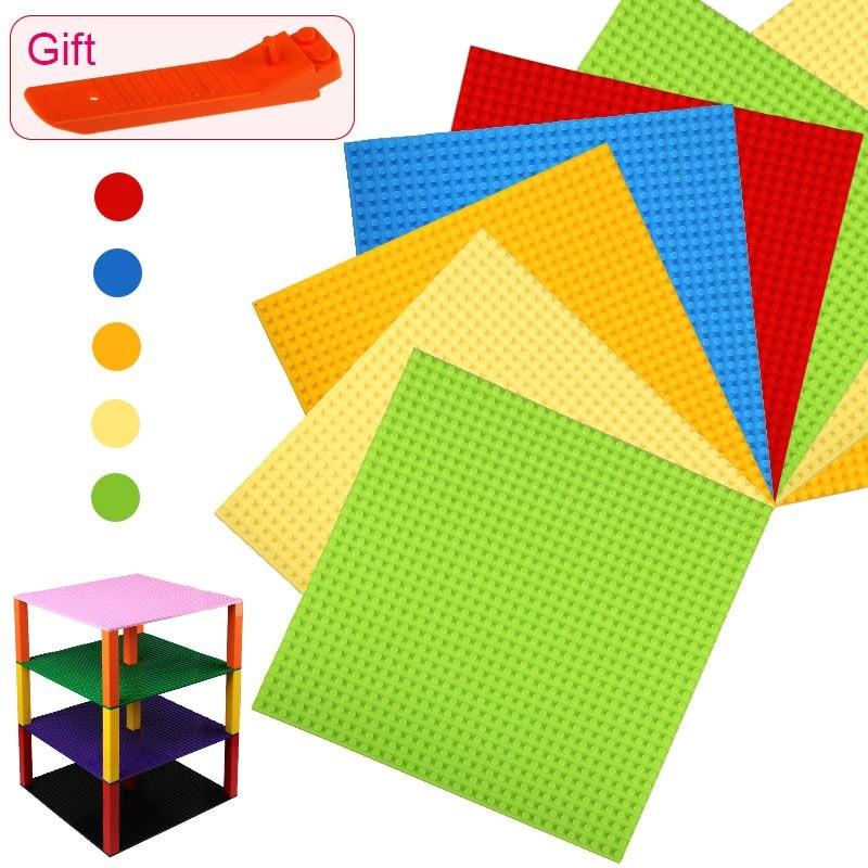 Nuevos colores bloques pequeños construcción DIY placas Base 32*32 puntos tamaño de la placa Base 25*25 cm juguetes compatibles con rompecabezas