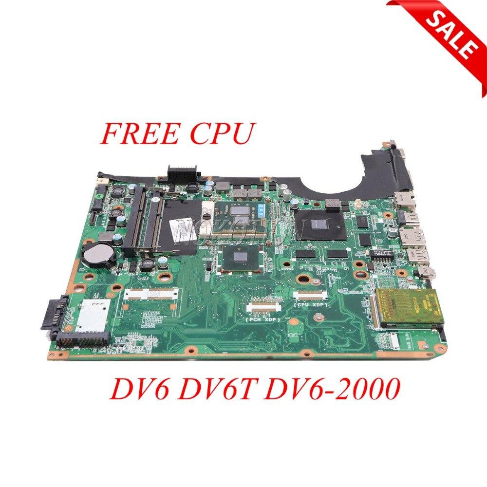 NOKOTION 605704-001 DA0UP6MB6F0 اللوحة الأم للكمبيوتر المحمول HP بافيليون DV6 DV6T DV6-2000 1GB بطاقة الفيديو DDR3 اللوحة الرئيسية وحدة المعالجة المركزية الحرة