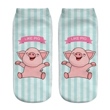 New 3D Arrival Cat Socks Cute Beauty Women Low Cut Ankle High Quality PinkPig Animal Socks Free Ship