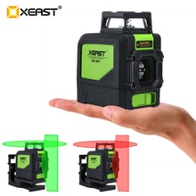 XEAST XE-901 5 Lines 3D Green Laser Levels Self Leveling 360 Horizontal  an Vertical Cross Super Powerful Green Laser Beam Line