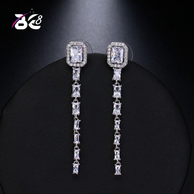 Be 8 New Style Crystal Fashion AAA+ CZ Square Shape Drop Earrings, Long Dangle Earrings for Women Fashion Jewelry E515