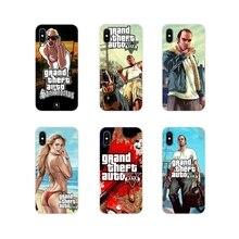 GTA San Andreas GTA Grand Theft Auto 5 V Pour Huawei P8 9 Lite Nova 2i 3i GR3 Y6 Pro y7 Y8 Y9 Premier 2017 2018 2019 Sac de Téléphone Cas