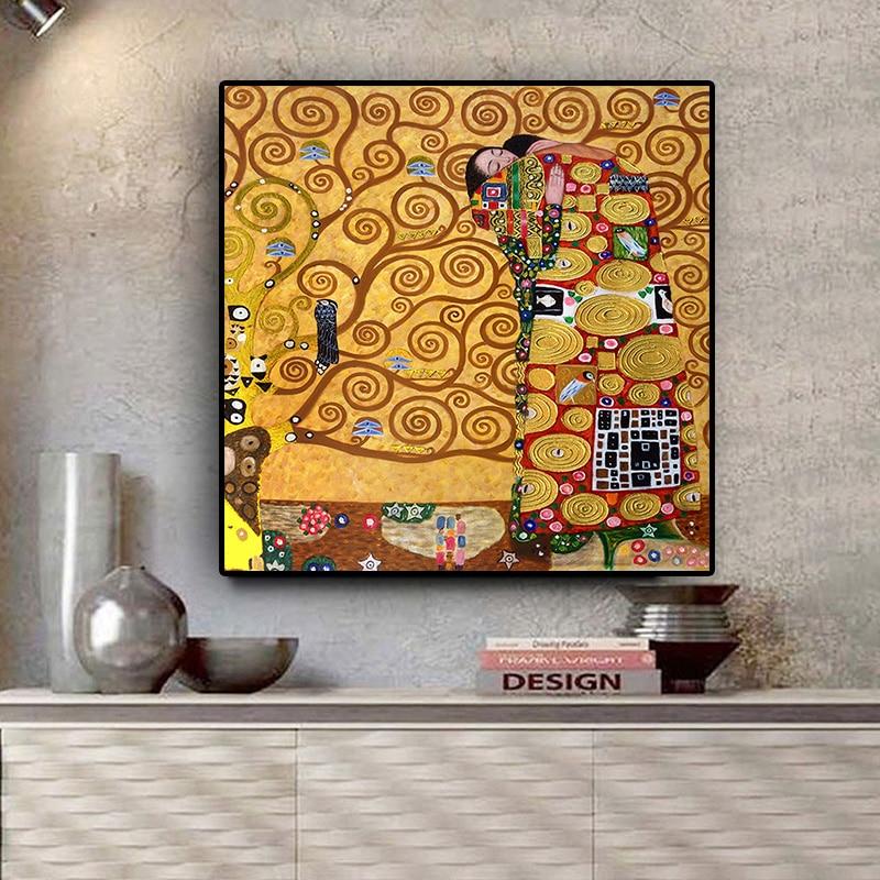 Gustav Климт воспроизводительная картина маслом на холсте постеры и принты скандинавские настенные картины для гостиной