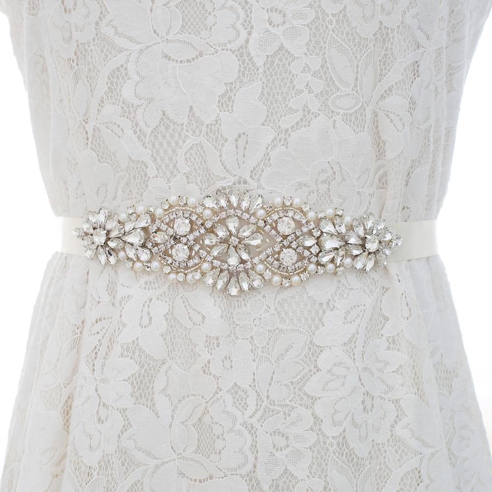 vrouwen Belt Wedding Belt Accessoires Off White Ribbon Bruids Sjerpen Riemen Voor Avond PartDress Sash For Wedding Accessories