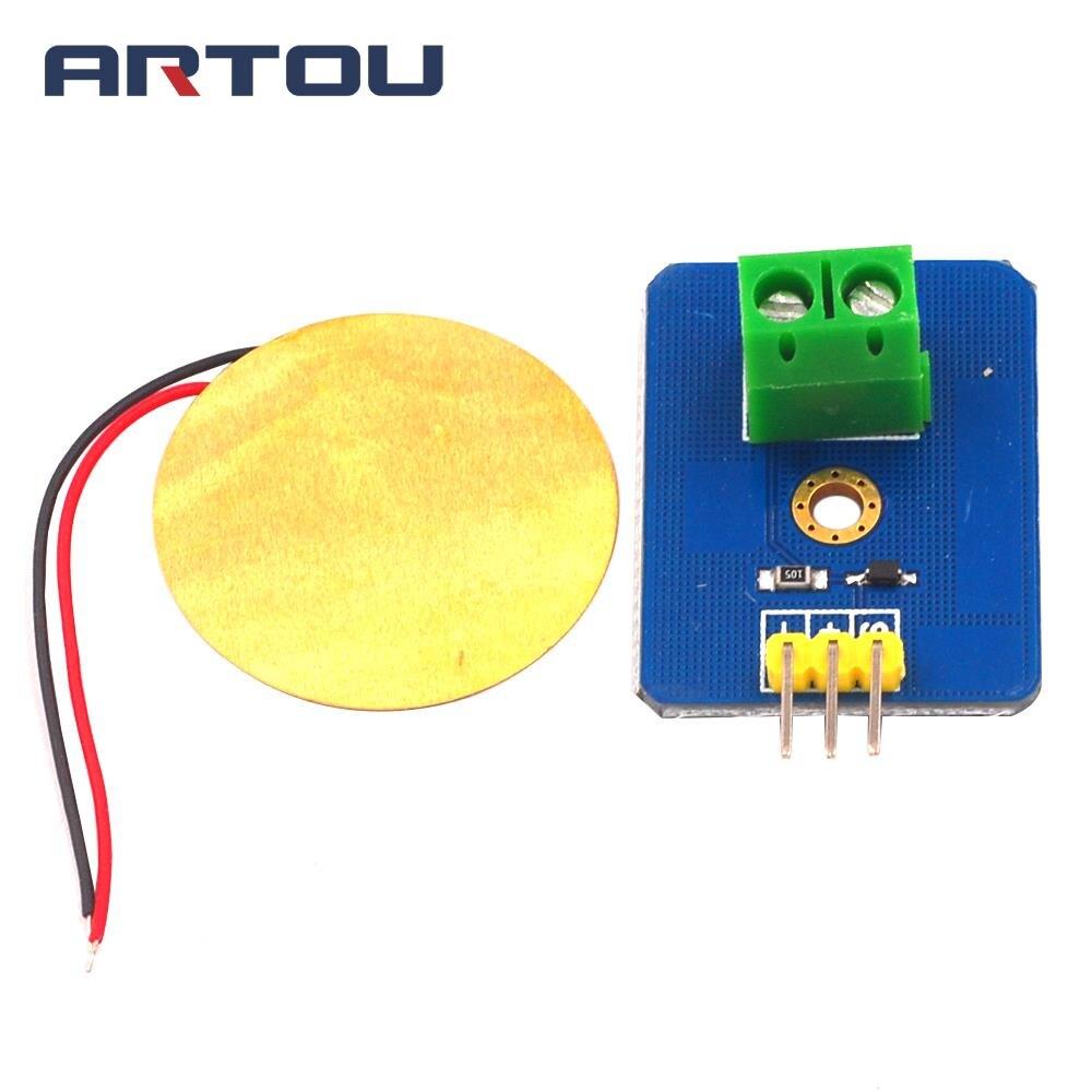 KIT de bricolaje 3,3 V/5 V de cerámica Piezo Módulo Sensor de vibración analógico controlador componentes electrónicos suministros de Sensor para Arduino