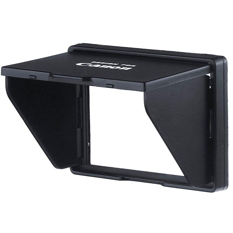 YXTM Protector de pantalla LCD Pop-sol sombra lcd Hood escudo funda para cámara Digital CANON PowerShot G3X envío gratis