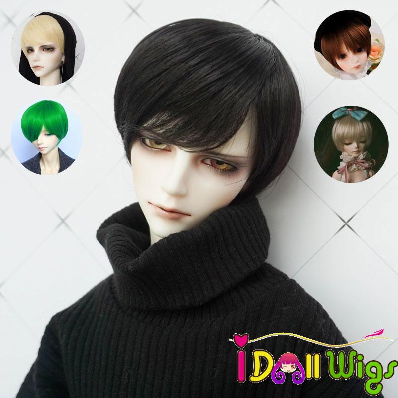 Pelucas de pelo corto sintético resistente al calor, 5 muñecas BJD diferentes, estilo de niño, bjd 1/3 1/4 1/6, a la venta