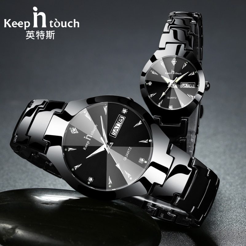KEEP IN TOUCH Brand Luxury Lover Watches Quartz Calendar Dress Women Men Watch Couples Wristwatch Re
