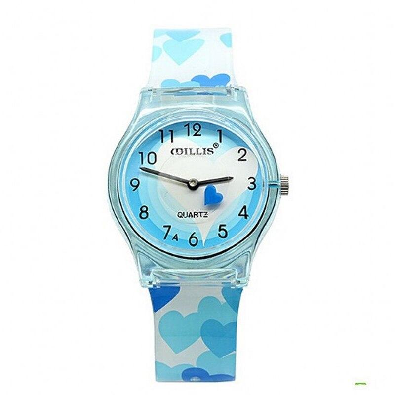 Nova chegada do coração à prova dwaterproof água crianças relógios moda senhora doces relógio de quartzo silicone feminino casual vestido relógio pulso casual relogio